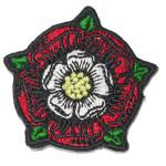 tudor english rose iron on patch