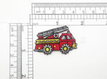 "Fire Truck patch Iron On Embroidered applique 1 3/4"" x 1 1/8"""
