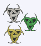 Triple Moon Patch Pagan Wiccan Symbol Iron On Embroidered Applique