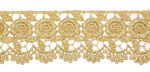 "Venise Lace 2 1/ 4"" Metallic Gold 3 Yards & Up"