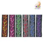 """Jacquard Ribbon 1"""" (25mm) Flame Design *Colors*"""