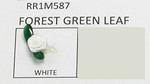 Mini Satin Ribbon Roses Forest Green Leaf WHITE 25 Pack