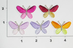 """Butterfly Two Tone Iron On Patch Applique  1 3/8"""" X 7/8"""" *Colors*"""