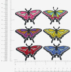 Swallowtail Butterfly  Iron On Patch Applique *Colors*