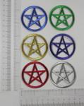 Iron On Patch Applique - Pentagram Pentacle in Metallic