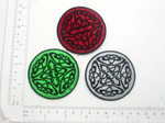 "Celtic Round Patch  2 1/2"" high Iron On Patch Applique"