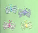 "Iron On Patch Applique -  Butterfly Lace Wing 1 1/2""  *Colors*"