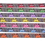 "Jacquard Ribbon 1"" (25mm)  Love Bones Priced Per Yard"
