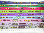 "Dog Agility Jacquard Ribbon 5/8"" 15.8mm  Colors"