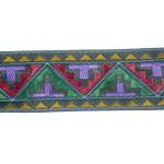 """Jacquard Ribbon 1 1/8"""" Aztec Style Multi"""