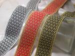 """Jacquard Ribbon 1 1/2"""" (38mm) Diamond Trellis Pattern *Colors* Priced Per Yard"""