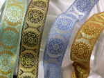 "Jacquard Ribbon 1 1/2"" Metallic *Colors*"
