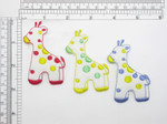 Baby Giraffe Patch Iron On Applique - White Felt *Colors*