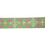 """Jacquard Ribbon 1"""" Renaissance Style Lime"""