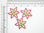 "3 x Lily Flower Patch Iron On Embroidered Appliques    Measures 2"" across x  1 5/8"" high approximately Fully Embroidered"