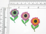 Daisy Patch Iron On Embroidered Applique - Fantasy Flower