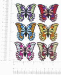 """Butterfly Iron On Patch Appliques Azzi 2 1/8"""" *Colors*"""