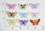 """Butterfly Iron On Patch Applique  Shiny Wings 1 3/8"""" X 7/8"""" *Colors*"""
