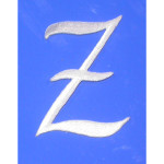 Iron On Patch Applique - Script Letter White Z