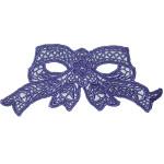 Venise Lace Applique - Bow Royal Purple
