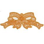 Venise Lace Applique - Bow Orange
