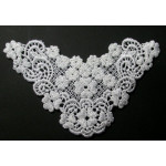 Venise Lace Yoke Applique - Medium-White