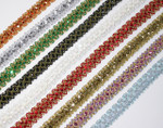 "Sequin Braid 7/8"" (23mm) Lots Of Colors -  Priced Per Yard"