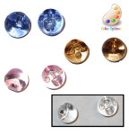 "Button 3/8"" Ball Transparent Pink Per Piece"