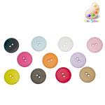 """Button 3/4"""" Flat 2 Hole *Colors* Per Piece"""