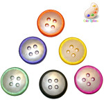 "Button 1 3/32"" Polyester 4 Hole *Colors* Per Piece"
