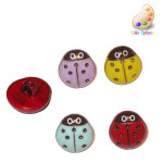 "Button 9/16"" Shank Ladybug Per Piece *Colors*"