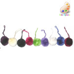 "Tassel Pom Pom 1 1/2"" Royal Per Piece"
