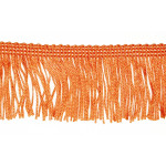 "Chainette Fringe 2"" Acetate Orange Per Yard"