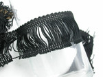 "Chainette Fringe 2"" Black Priced Per Yard"
