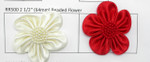 "Satin Ribbon Beaded Flower 2 1/2"" (63mm) Per Piece"