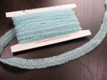"Braid 3/4"" (20mm) Sheer Looped Ribbon Design Light Blue 4 Yards"