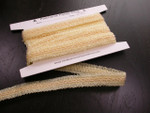 "Braid 3/4"" (20mm) Sheer Looped Ribbon Design Ivory  4 Yards"