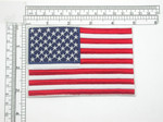 "Flag of The United States 4 3/4"" x 3 1/8"" Iron On Patch Applique"