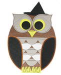 """Iron On Patch Applique - Giant Owl 12"""""""