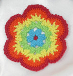 Sew On Crochet Applique Rainbow Colors 2 3/4""