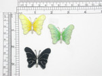 """Butterfly Patch 1 5/8"""" Shaded Iron On Embroidered Applique"""