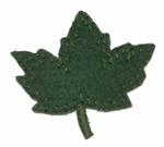 Iron On Patch Applique - Maple Leaf Felt Green