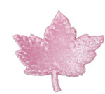 Iron On Patch Applique - Maple Leaf Velveteen Pink