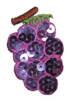 Iron On Patch Applique - Bunch of Grapes Sequin