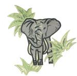 Iron On Patch Applique - Safari Elephant