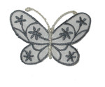 "Iron On Patch Applique - Butterfly 2 1/4"" Sheer Flower Wing Butterfly"
