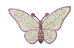 "Iron On Patch Applique - Butterfly 3"" Sheer Plum"