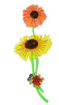 Iron On Patch Applique - Flower Spray with Lady Bugs
