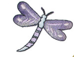 Iron On Patch Applique - Dragonfly Lilac Sparkle