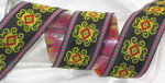 "Jacquard Ribbon 2"" Black Persian Priced Per Yard"
